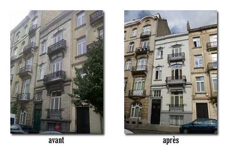 sablage traitement hydrofuge 1050 ixelles 2010 devis gratuit belgique youka facade